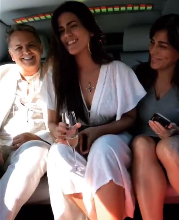 Antonia Morais com os pais (Foto: Reprodução)