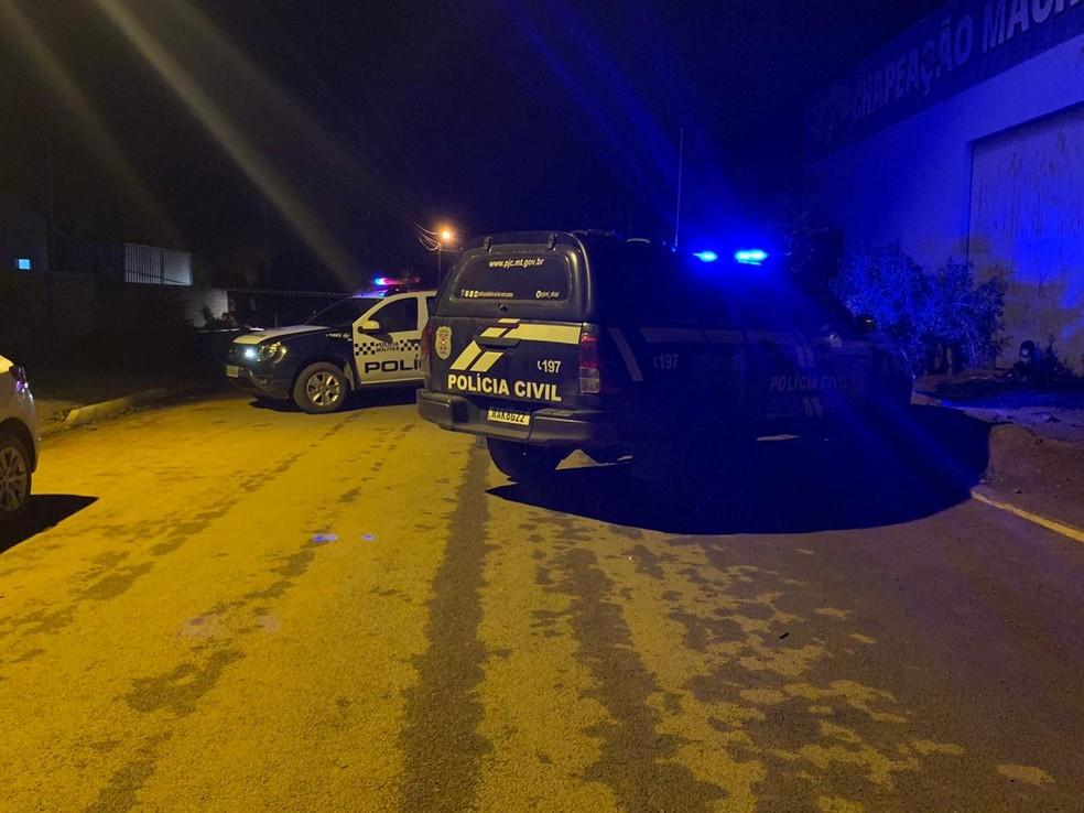 As polícias Civil e Militar foram acionadas — Foto: PM/MT