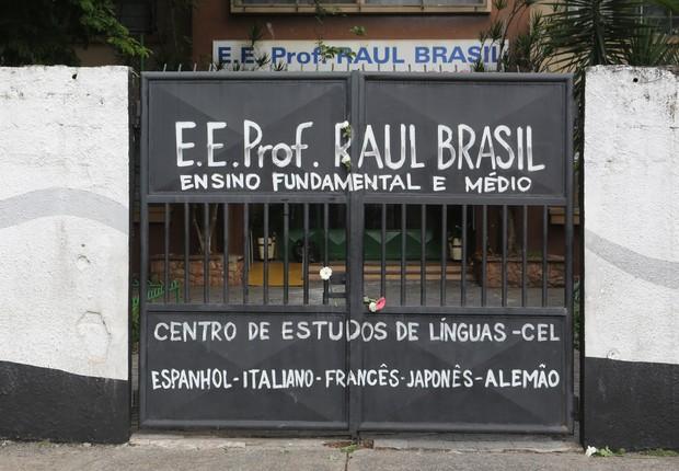 A escola em que dois jovens mataram cinco adolescentes e dois funcionários na quarta-feira, 13 de março (Foto: Fabio Vieira/FotoRua/NurPhoto via Getty Images)