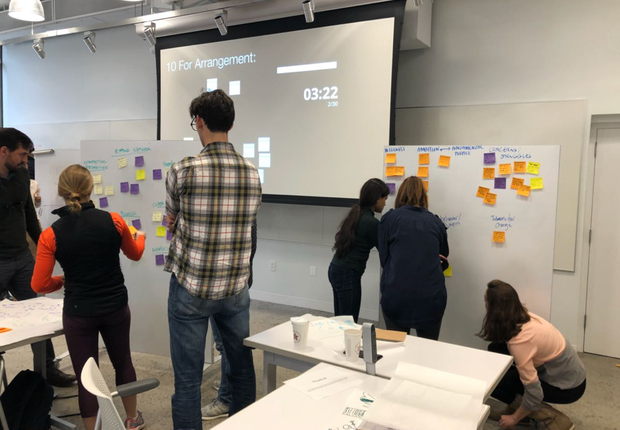 Aula de design thinking em Wharton School (Foto: Fernanda Lopes de Macedo Thees)