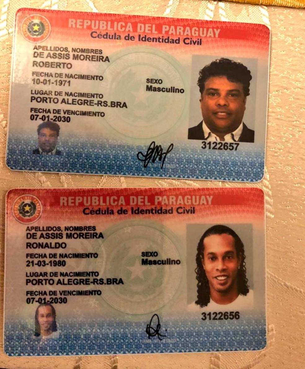 Ronaldinho Assis identidade Paraguai — Foto: Reprodução/Twitter