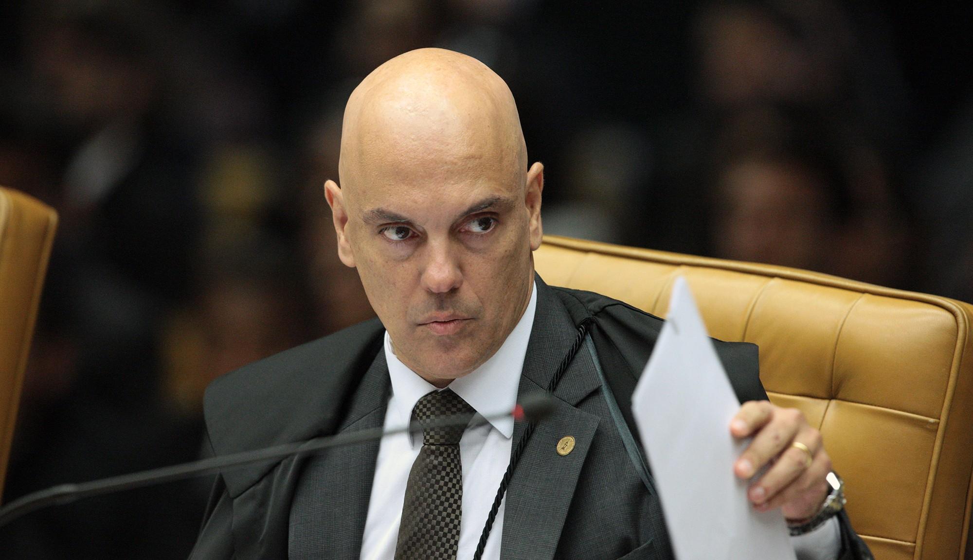 O ministro Alexandre Moraes na sessão de julgamento do habeas corpus