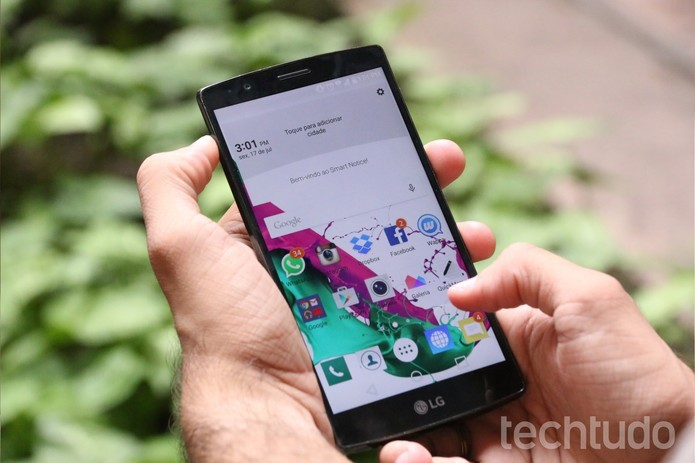 LG G4 implementou mais recursos no Android (Foto: Luciana Maline/TechTudo) (Foto: LG G4 implementou mais recursos no Android (Foto: Luciana Maline/TechTudo))