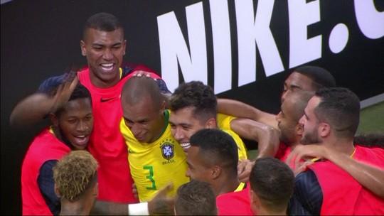O gol de Brasil 1 x 0 Argentina em Amistoso Internacional