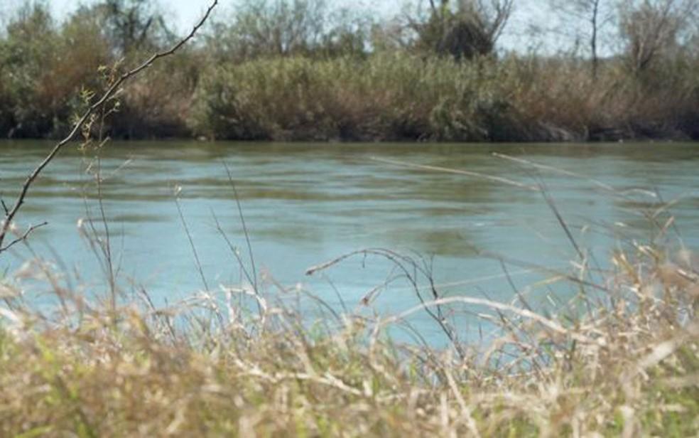 Rio Grande marca fronteira entre EUA e México — Foto: BBC