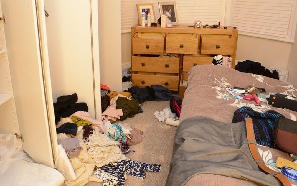 Mitesh bagunçou a casa para fazer parecer que o assassinato da mulher tivesse sido cometido por ladrões — Foto: Divulgação/Polícia de Cleveland, Middlesbrough
