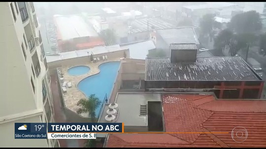 Vídeos mostram prejuízos causados por temporal de granizo no ABC