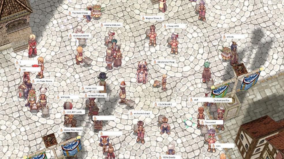Ragnarok Online explorava bastante os elementos sociais dos MMORPGs na época das lan houses — Foto: Reprodução/Steam