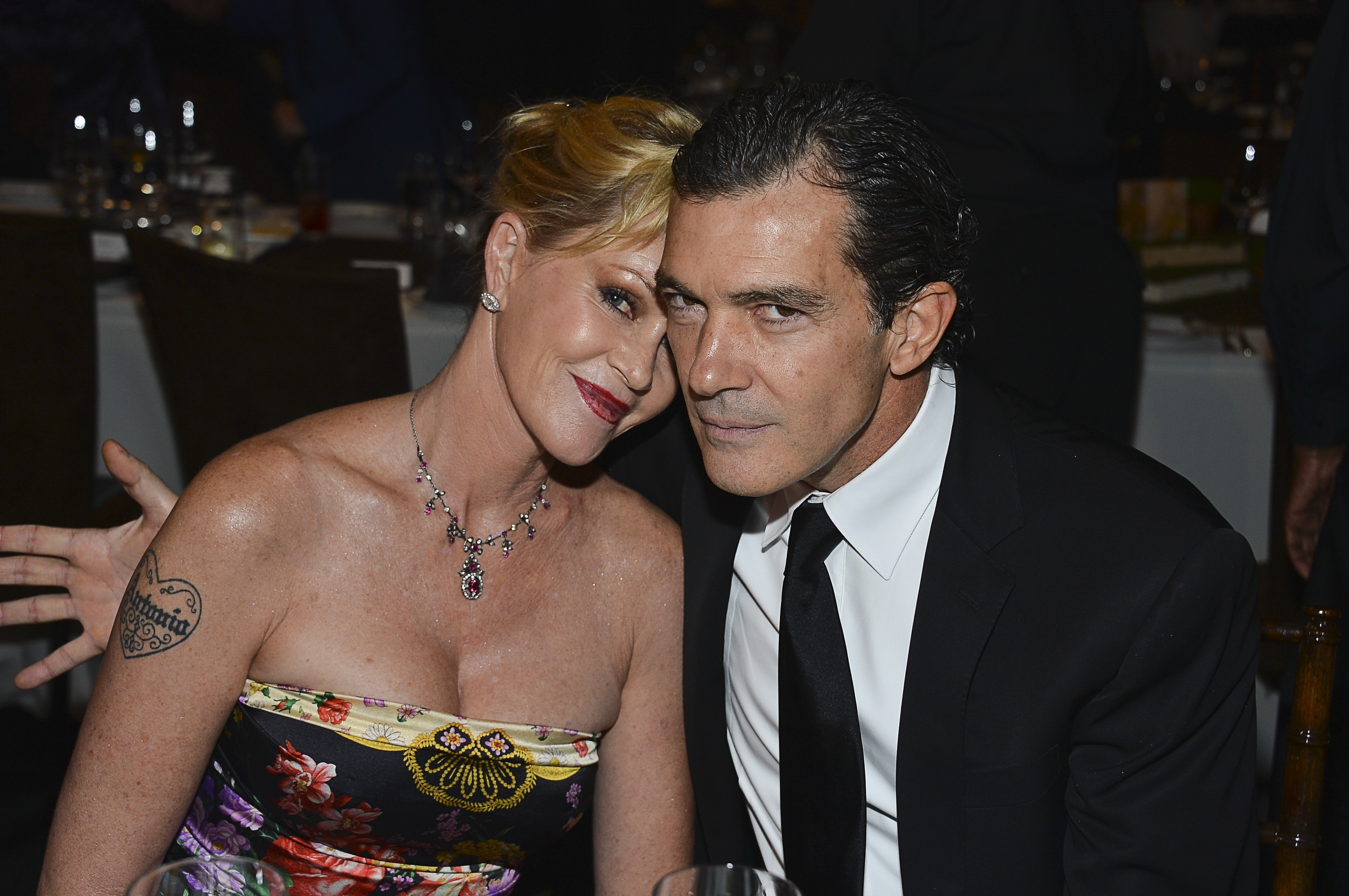 O ator Antonio Banderas e a atriz Melanie Griffith (Foto: Getty Images)