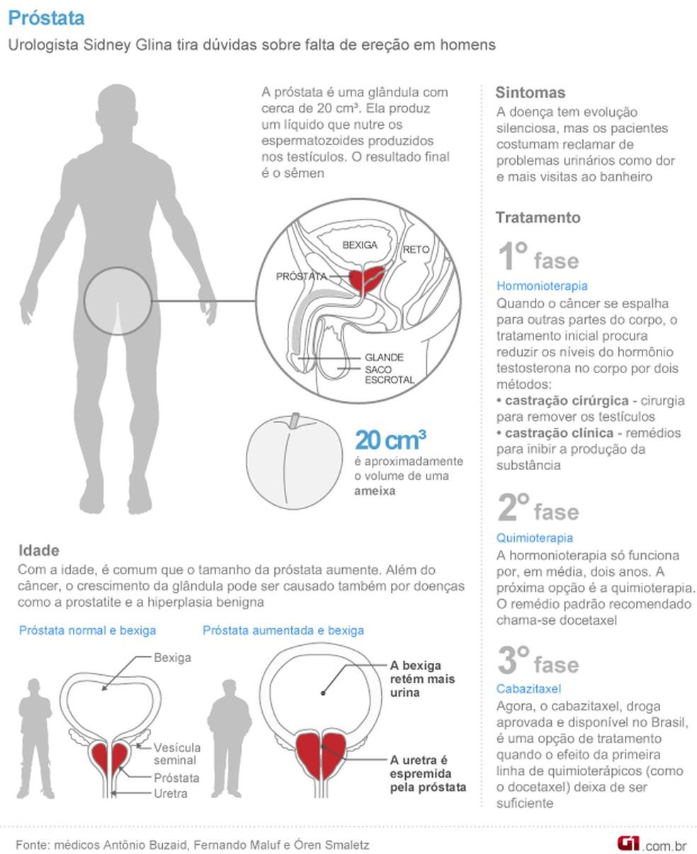 Info Próstata Câncer 1 — Foto: Arte / G1