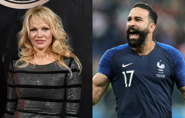 Pamela Anderson e Adil Rami (Foto: Getty Images)
