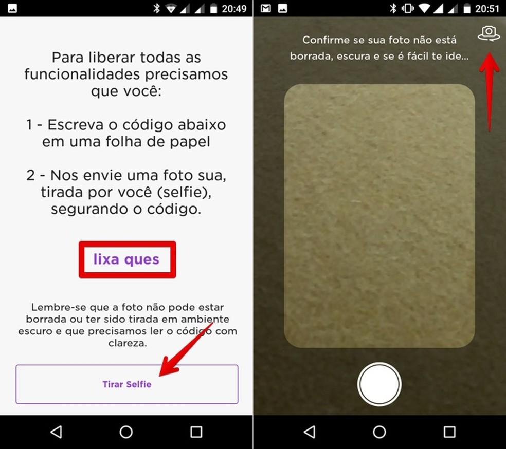 Anote o código e tire uma selfie com ele — Foto: Reprodução/Helito Bijora