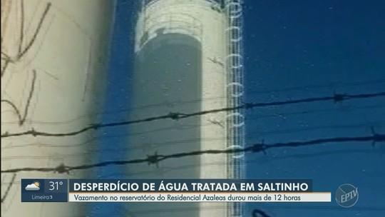 Vazamento no reservatório do Residencial Azaleias dura 12 horas em Saltinho