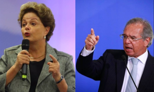 Dilma Rousseff e Paulo Guedes