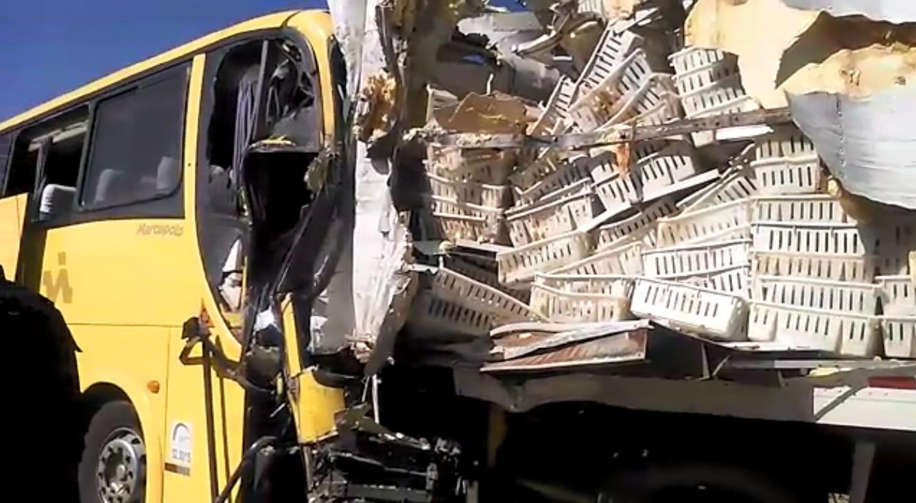 Acidente envolvendo ônibus e caminhão deixa morto e feridos em rodovia do sul da Bahia - Notícias - Plantão Diário