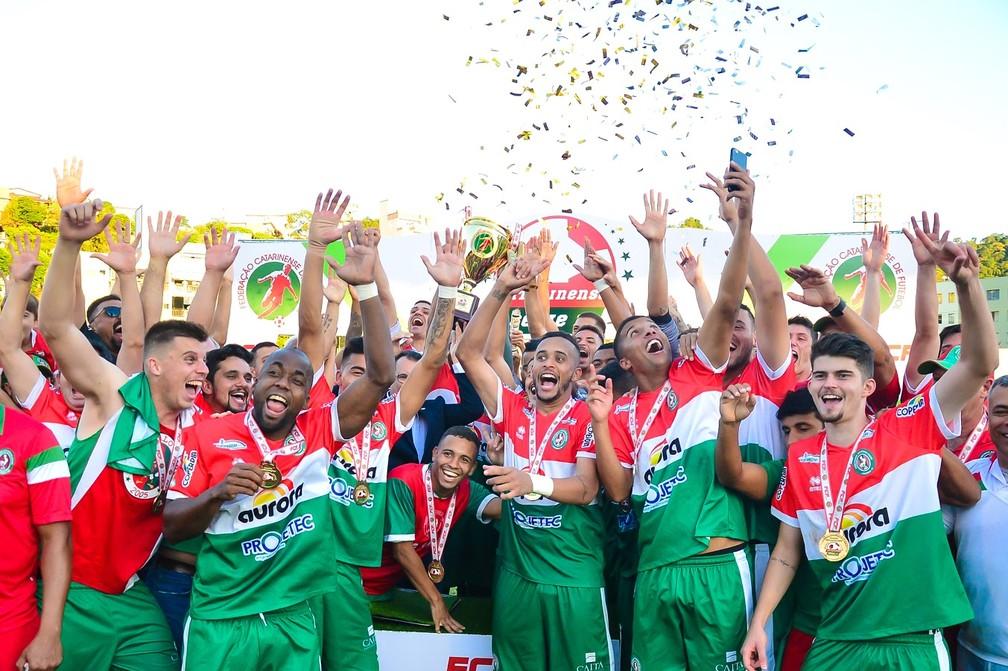 Concórdia é o campeão Catarinense Série B (Foto: Ricardo Artifon/Concórdia)