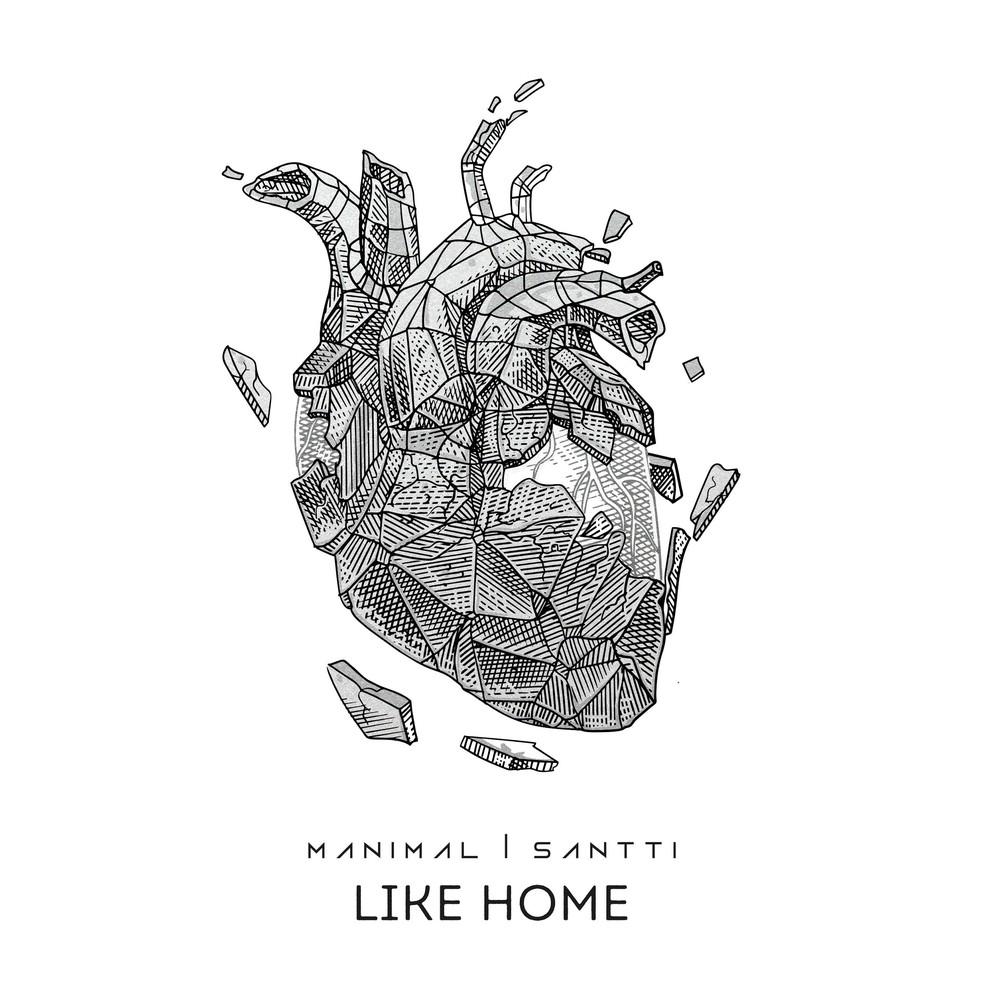 Capa do single 'Like home', do Manimal com Santti — Foto: Divulgação