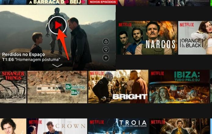 Ação para reproduzir um título em 4K disponível na Netflix (Foto: Reprodução/Marvin Costa)
