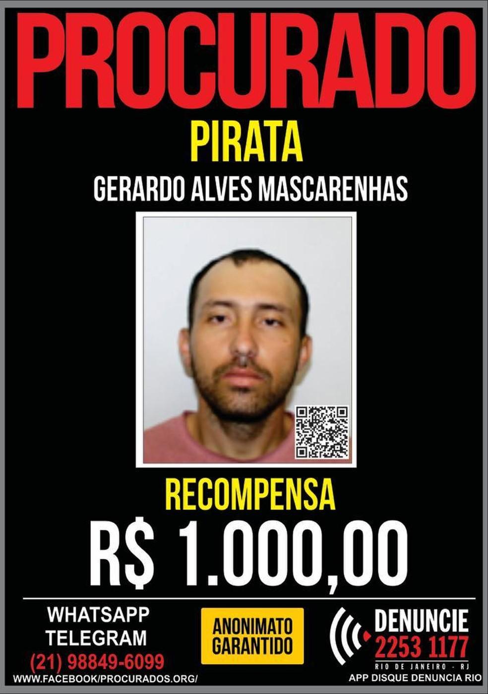 Recompensa de R$ 1 mil era oferecida pelo Disque-Denúncia — Foto: Divulgação