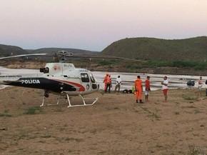 Equipes de buscas estão trabalhando no rio São Francisco (Foto: Helcio Eduardo Lima Gomes)