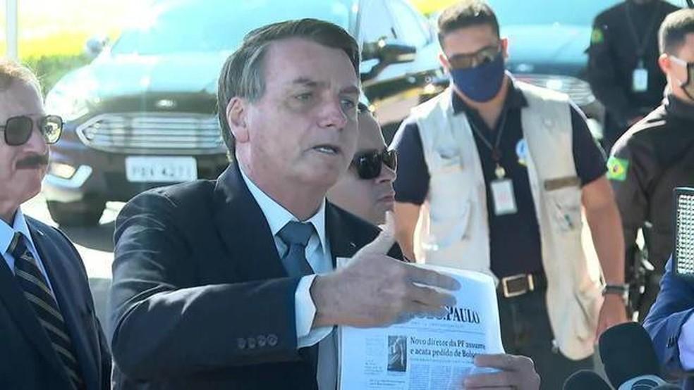 Bolsonaro — Foto: GloboNews