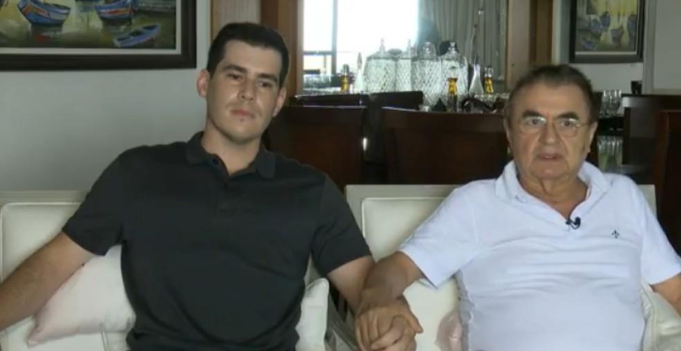 Filho médico deixou tudo para cuidar do pai com Covid-19 na PB — Foto: TV Cabo Branco/Reprodução