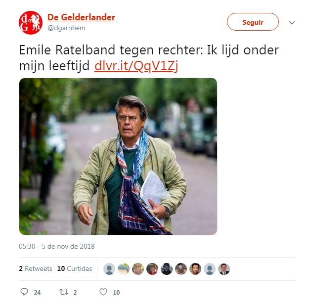 O holandês disse que se conseguir mudar a sua data de nascimento vai renunciar a aposentadoria (Foto: Twitter / De Gelderlander   )