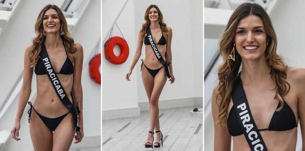 A Miss Piracicaba, Júlia Vidal Crivelari, de 22 anos, candidata a Miss São Paulo 2018 (Foto: Fábio Tito/G1)