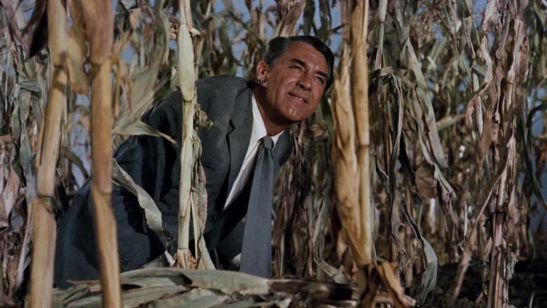 Cena no milharal do filme Intriga Internacional, de Alfred Hitchcock (Foto: Reprodução)