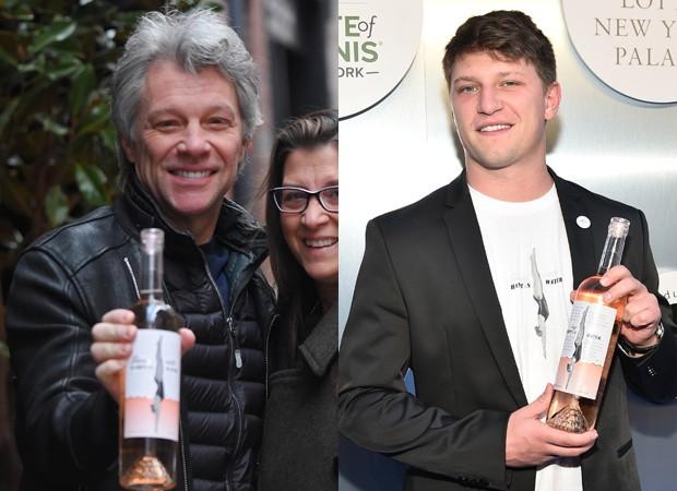 Jon Bon Jovi e o filho Jesse Bongiovi (Foto: BackGrid e Getty Images)
