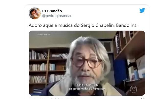 O ex-apresentador do 'Globo Repórter' foi comparado ao cantor Oswaldo Montenegro (Foto: Reprodução)