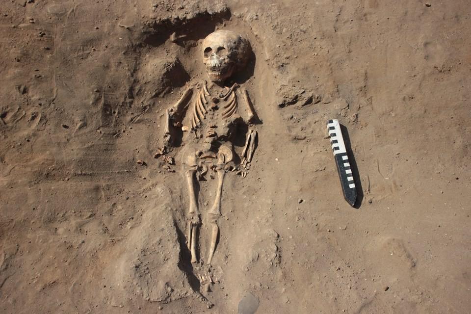 Um dos esqueletos encontrado sem pés no Peru (Foto: Museo Tumbas Reales de Sipan/Reprodução)