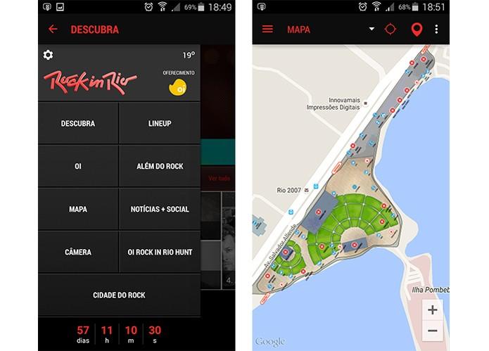 Confira os pontos no mapa da Cidade do Rock (Foto: Reprodução/Barbara Mannara)