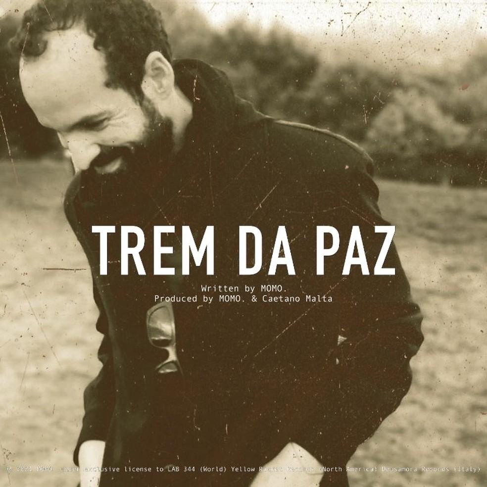 Capa do single 'Trem da paz', de Momo. — Foto: Divulgação