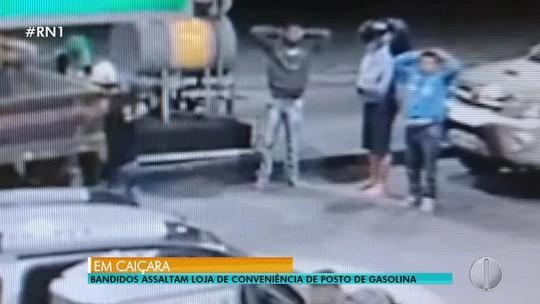 Após cometerem roubo, ladrões são assaltados em posto de combustíveis no interior do RN