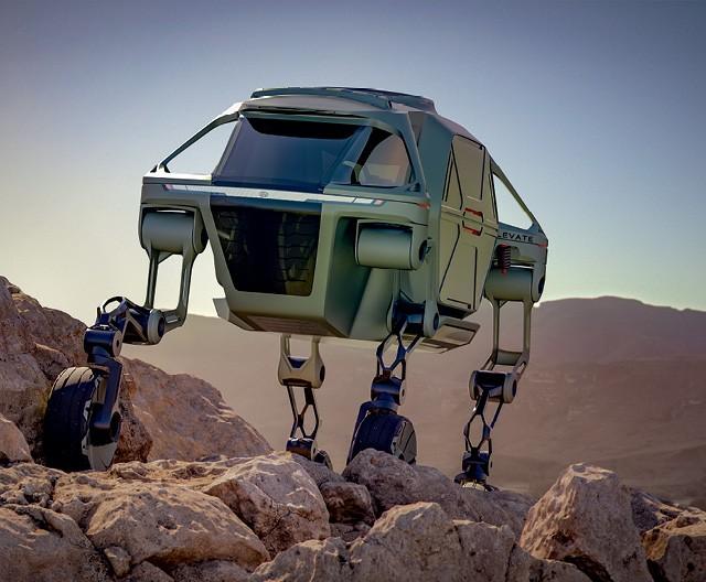 """O Elevate, carro-conceito apresentado recentemente pela Hyundai, inaugurou uma nova categoria automobilística: é o primeiro veículo """"com pernas"""" (Foto:  Divulgação)"""