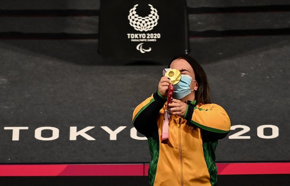 Mariana D'Andrea é campeã paralímpica de levantamento de peso - Foto: David Fitzgerald/Sportsfile via Getty Images