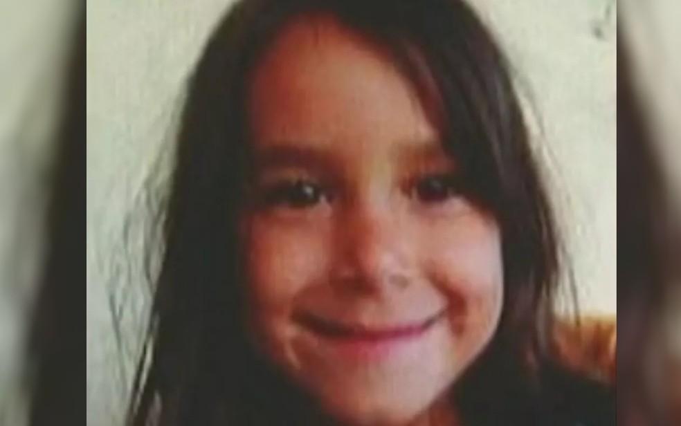 Iasmin Martins de Souza, de 8 anos, foi estuprada e morta — Foto: Reprodução/TV Anhanguera