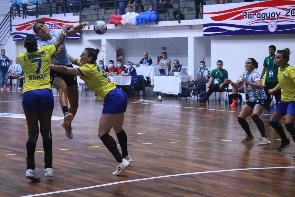 Seleção brasileira feminina de handebol — Foto: Handballsca