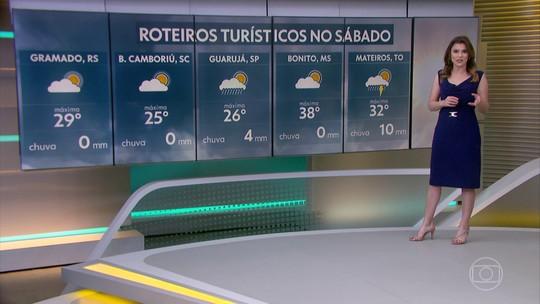 Fim de semana chega com bastante calor pelo Brasil