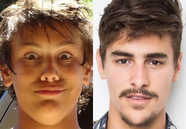 Bruno Montaleone nos anos 2000 e em 2018 (Foto: Reprodução/Instagram e Sérgio Baia/Divulgação)