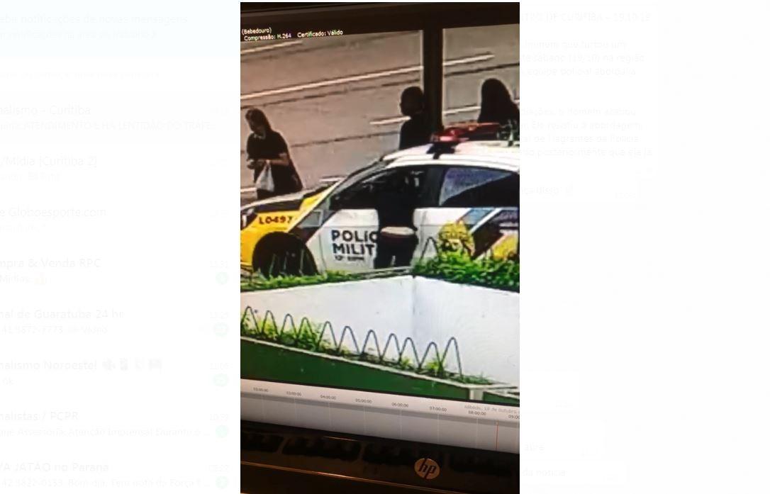 Homem furta celular de dentro de carro da polícia e é preso, diz PM; assista ao vídeo - Notícias - Plantão Diário