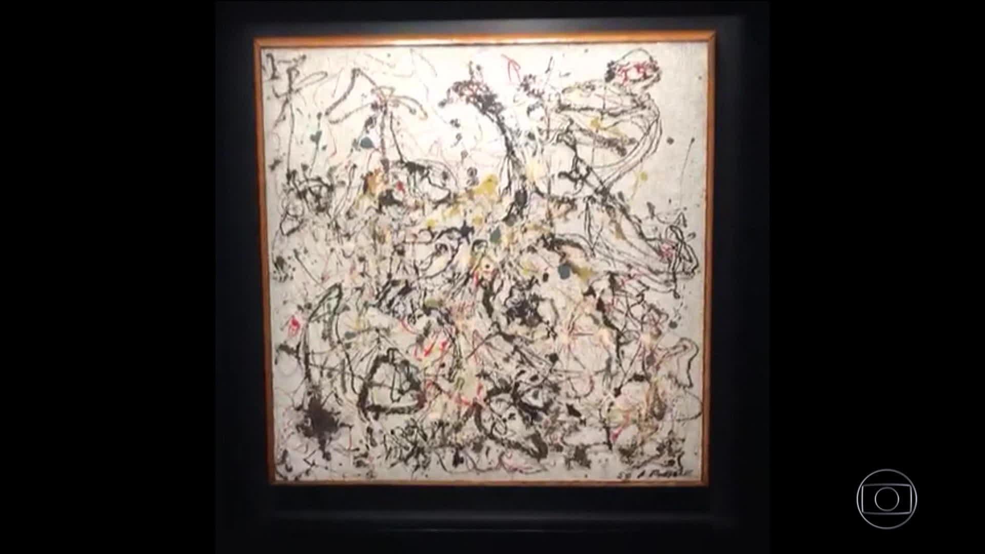 Quadro de Pollock do Museu de Arte Moderna do Rio não atinge lance mínimo em leilão em Nova York - Radio Evangelho Gospel