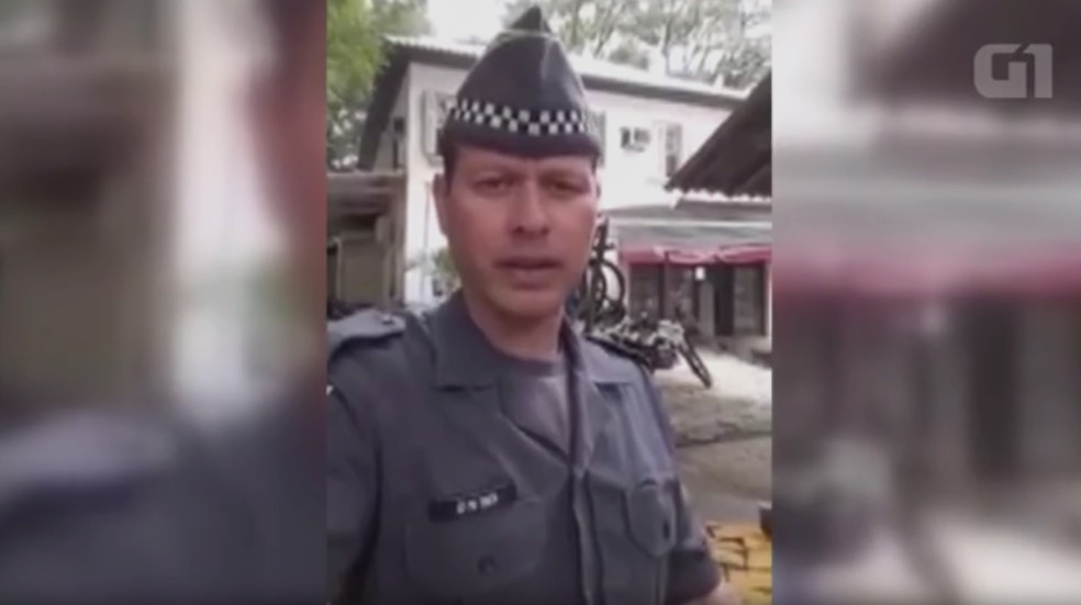 Soldado Costa gravou um vídeo pedindo ajuda dentro do 39º BPMI (Foto: Reprodução)