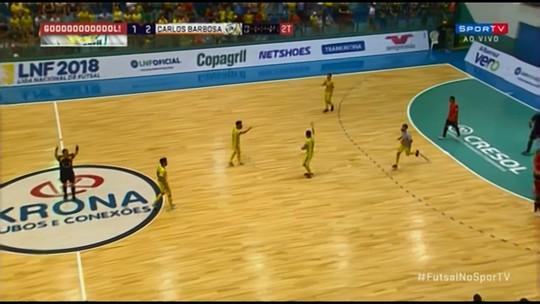 Em jogo emocionante, Marechal empata com o Carlos Barbosa pela Liga Nacional de Futsal