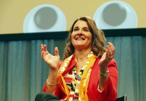 Melinda Gates, cofundadora da Bill & Melinda Gates Foundation (Foto: Fabrizio Bensch/Reuters)