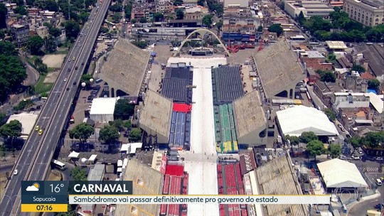 Sambódromo vai passar para o governo do RJ já no próximo carnaval, diz Witzel