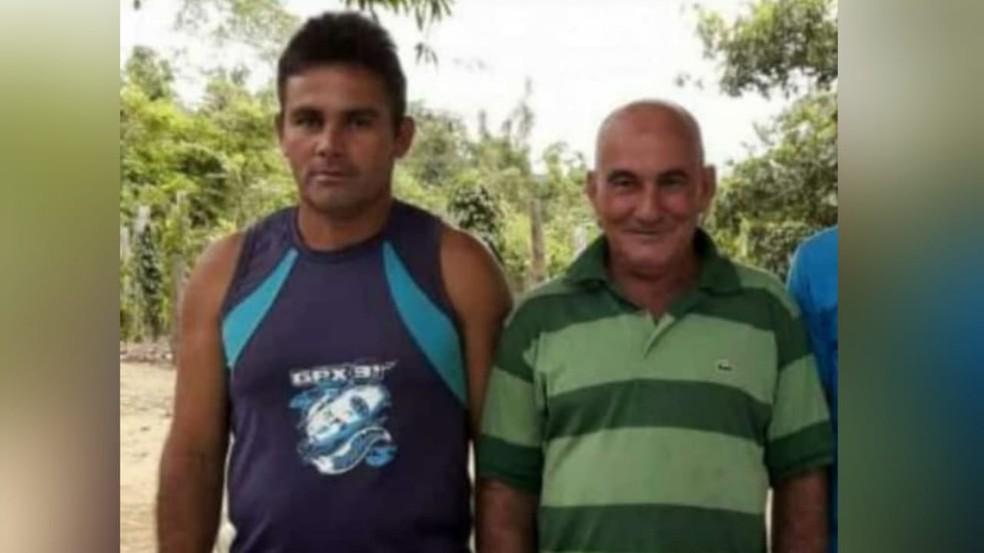 Raimundo Silva de Paula e o sogro Pedro Boscheto foram assassinados na comunidade Paca, em Mojuí dos Campos — Foto: Reprodução/Redes Sociais