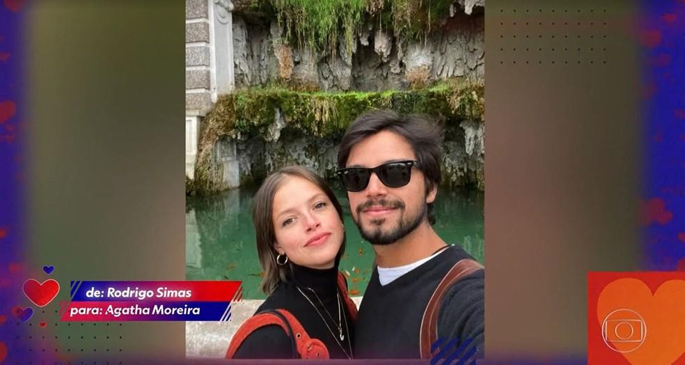 Famosos mandaram recados de amor durante a live — Foto: Globo