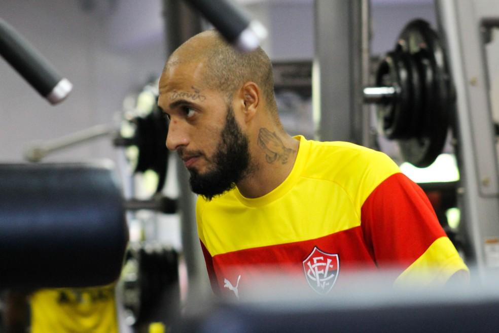 Atacante estava no Vitória, onde fez 36 partidas (Foto: Maurícia da Mata / Divulgação / EC Vitória)